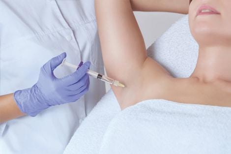 Female armpit injected for hyperhidrosis treatment   Knott Street Dermatology   Skin Care Center   Portland Oregon