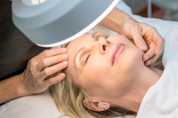Adult Female face ready for Dermaplaning | Knott Street Dermatology | Facial Treatment | Portland Oregon