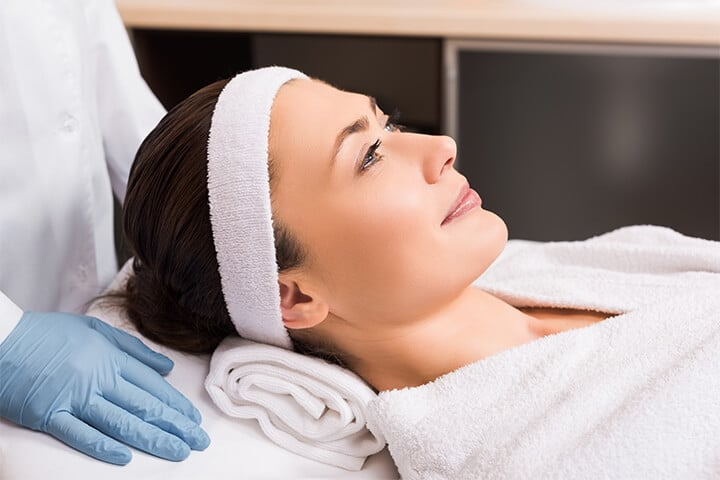 Female patient preparing for Laser BBL   Knott Street Dermatology   Skin Care Center   Portland Oregon